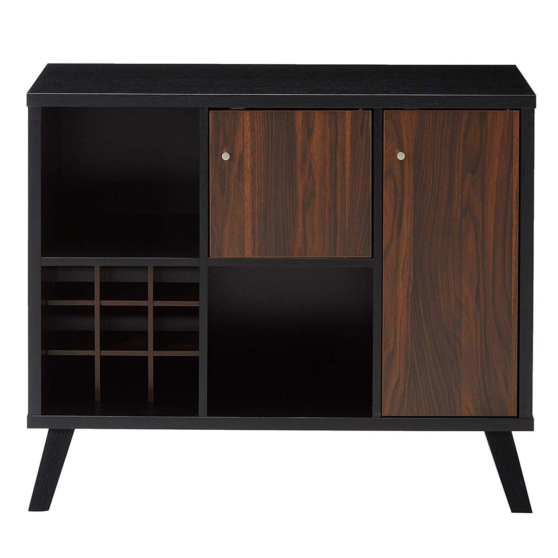 Wooden Wine Bar Storage Cabinet - DunaWest