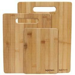 Natural Bamboo 3 Piece Cutting Board Set