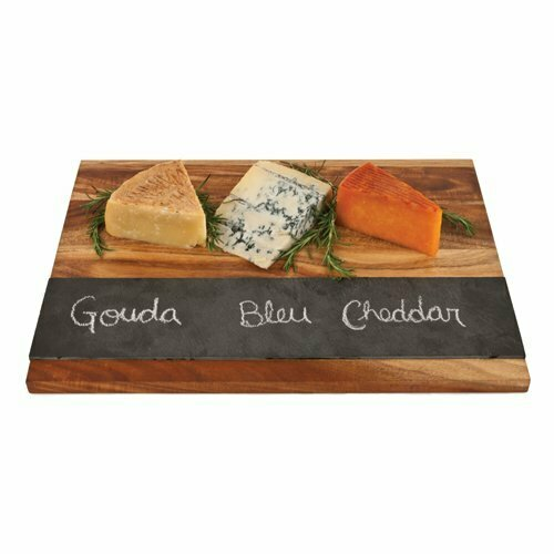 17.7 Inch Wood with Slate Board - Twine