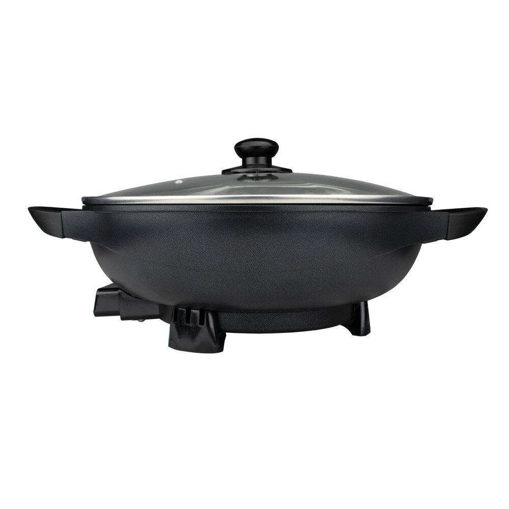 13 Inch Non-Stick Flat-Bottom Electric Wok - Brentwood