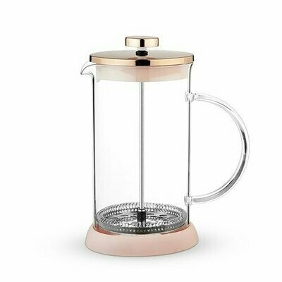 34 Ounce French Press Pot, Riley Glass - Pinky Up