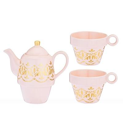 Teapot and Cups, Taylor Casablanca - Pinky Up