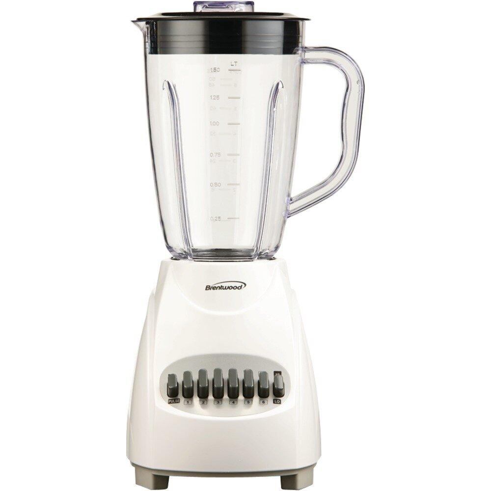 1.5 Liter 12-Speed+Pulse White Electric Blender - Brentwood