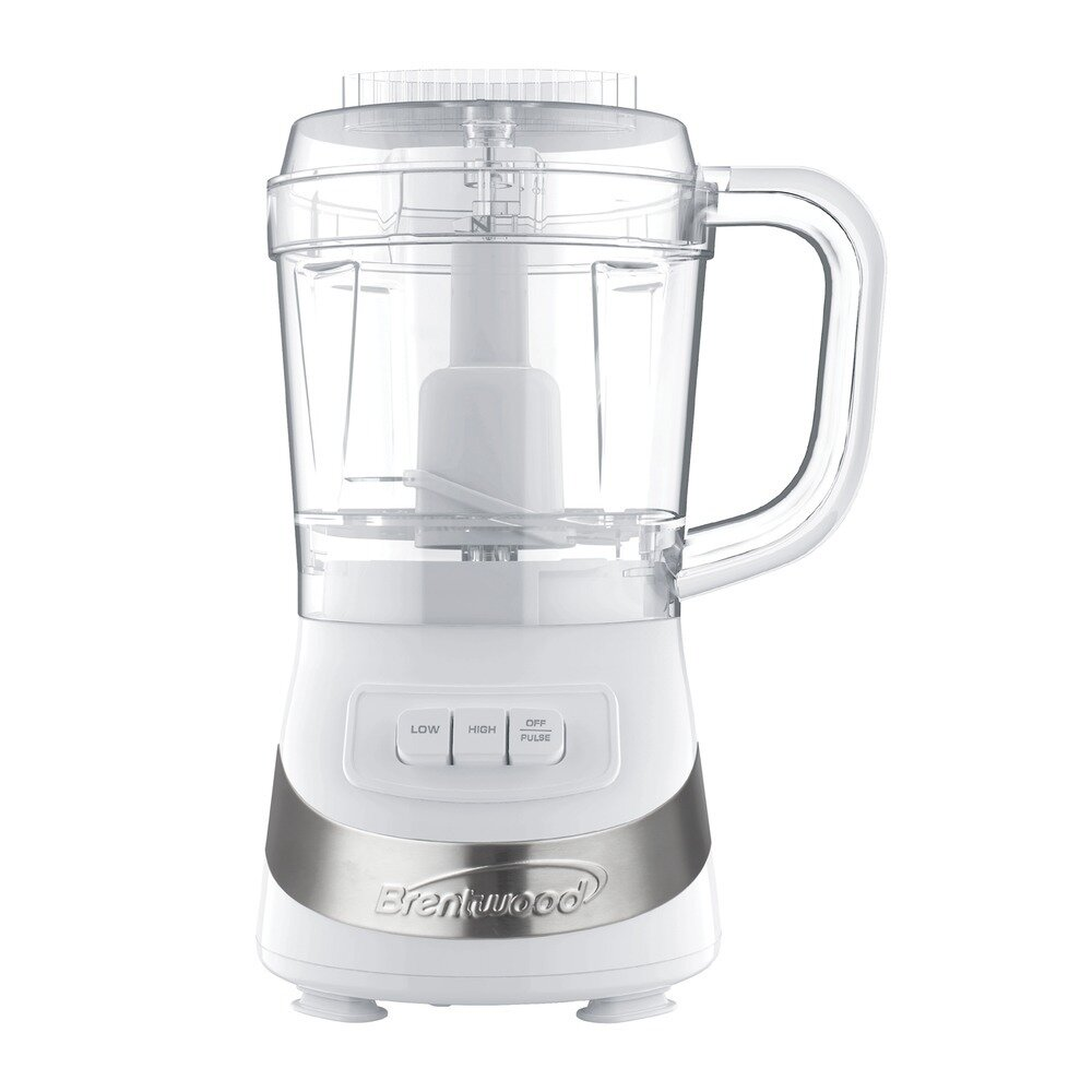 3 Cup Food Processor (White) - Brentwood