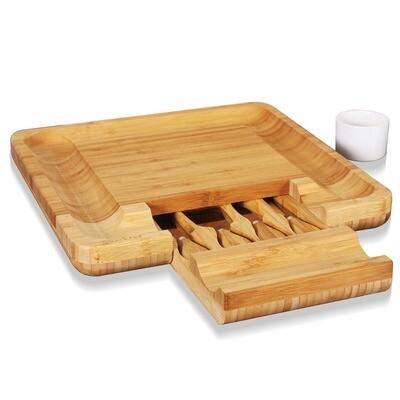 Bamboo Cheese Cutting Board - NutriChef