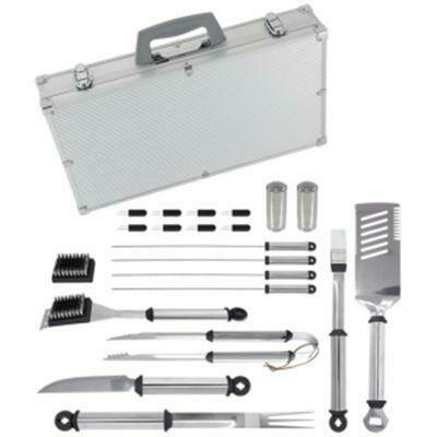 21 Piece BBQ Tool Set with Aluminum Case