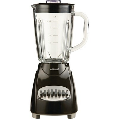 42-Ounce 12-Speed+Pulse Electric Black Blender - Brentwood