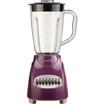50-Ounce 12-Speed+Pulse Purple Electric Blender - Brentwood
