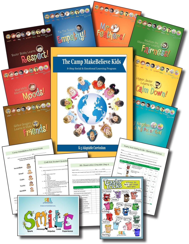 Camp MakeBelieve Kids (Adaptable K-5) 8-Step Program - Print Version