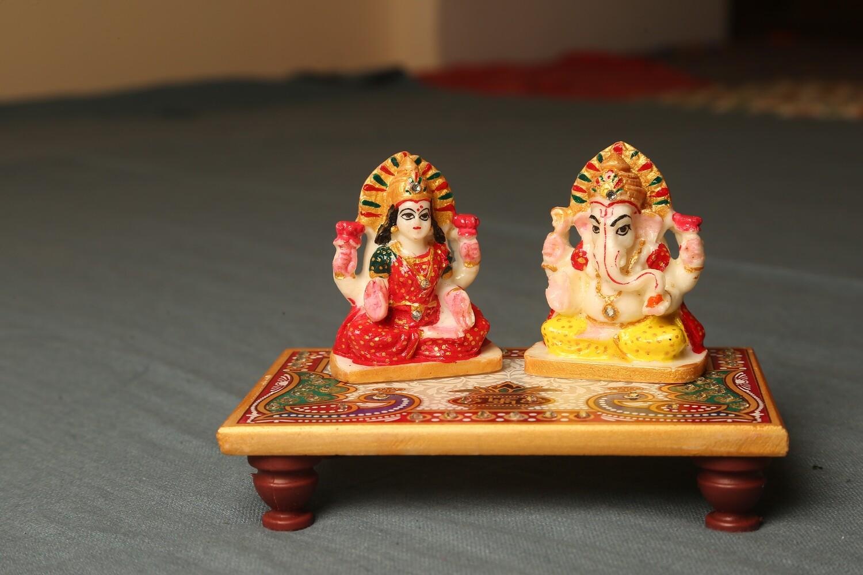 Handcrafted Choki Ganesh Laxmi