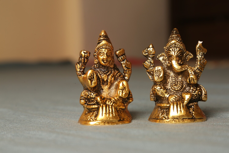 Brass Laxmi Ganesh Idol