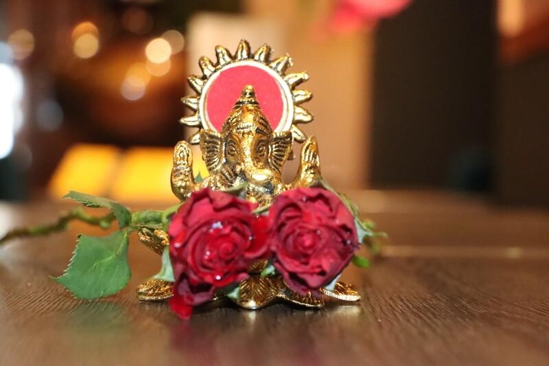 Lotus Ganesh 2 pieces
