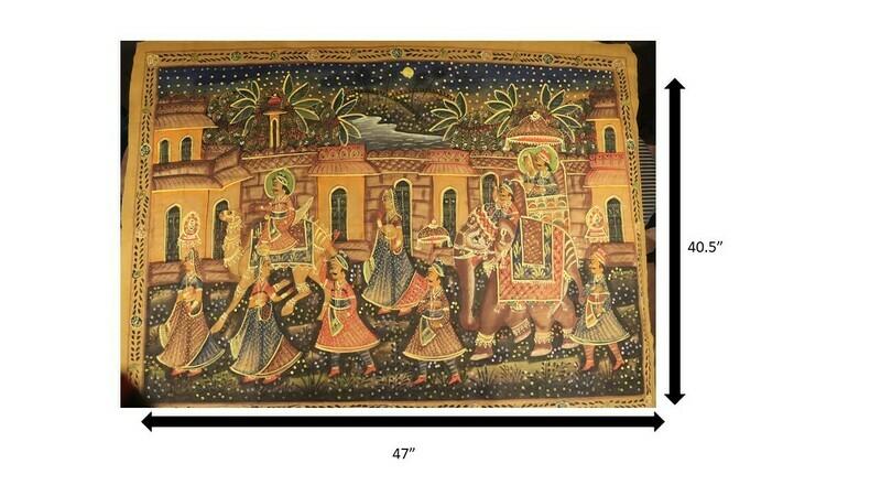 Royal Rajasthani Procession Painting