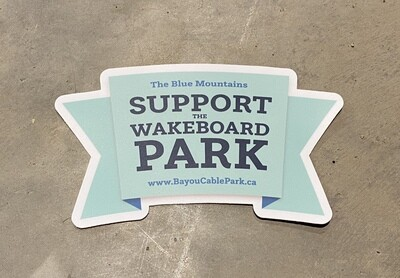 FREE Support the Wakeboard Park Stickers!