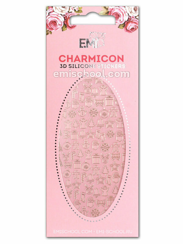 Charmicon 3D Silicone Stickers #72 Merry Christmas