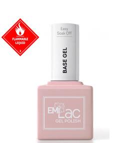 E.MiLac Easy Soak Off Base Gel, 9 ml.