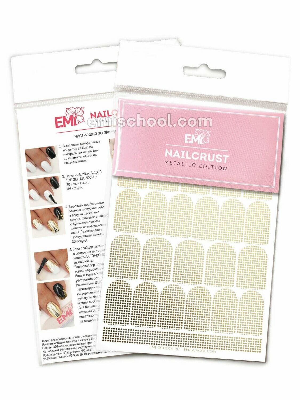 NAILCRUST Pattern Sliders #39 Gold