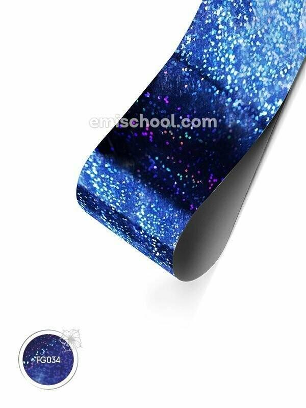 Foil holographic Dark blue Fine Point, 1.5 m.