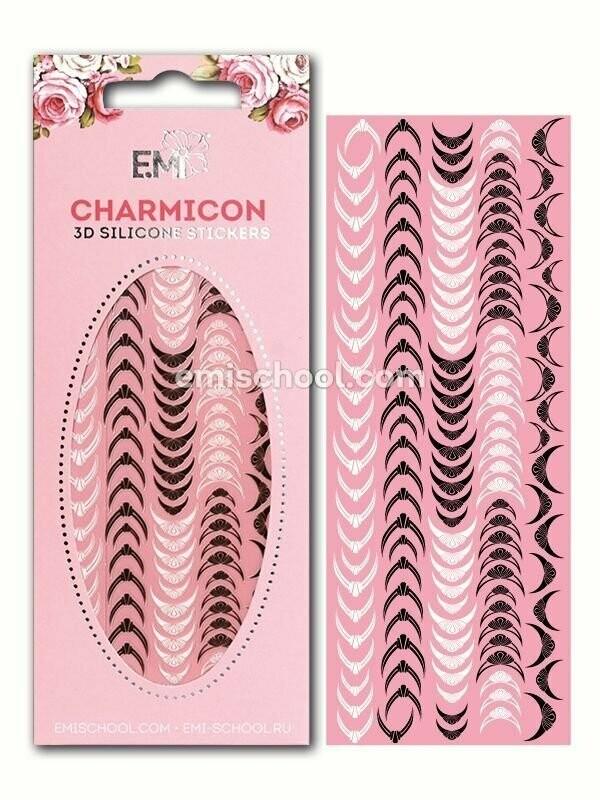 Charmicon 3D Silicone Stickers Lunula #10 Black/White