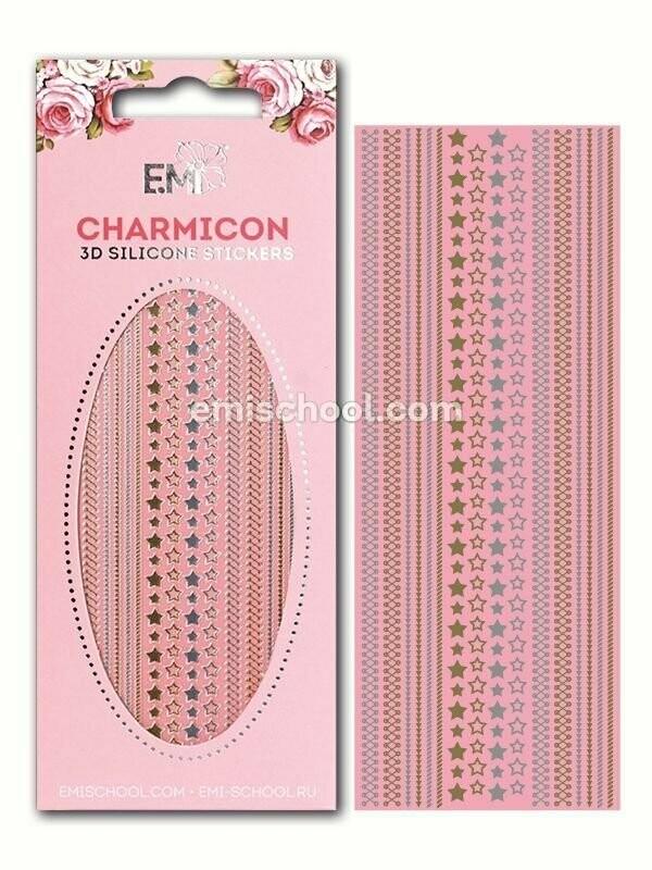Charmicon 3D Silicone Stickers Stars MIX #1 Gold/Silver