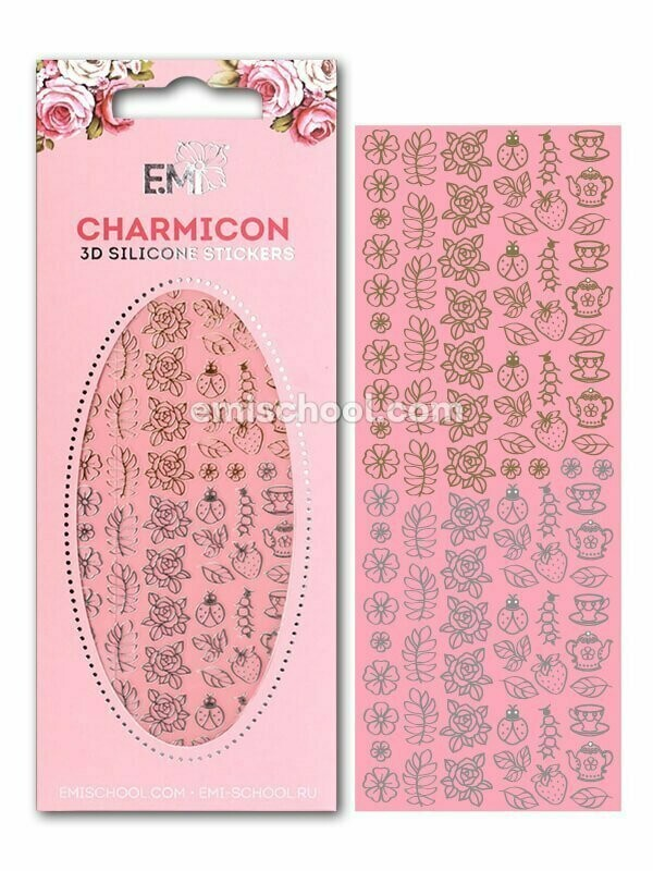 Charmicon 3D Silicone Stickers Jewelry Gold/Silver #5