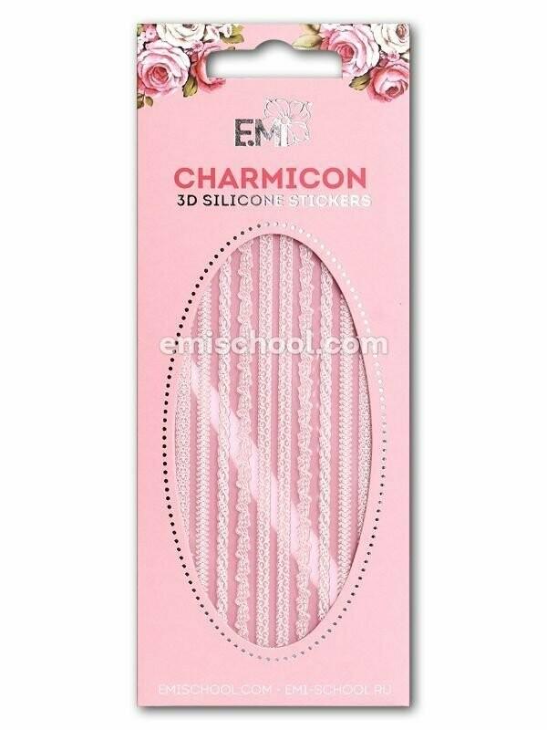 Charmicon 3D Silicone Stickers Ornament MIX White #2