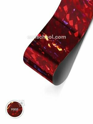 Foil holographic red Crystal, 1.5 m.