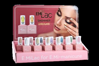 Display E.MiLac Shimmer Dreams+Set