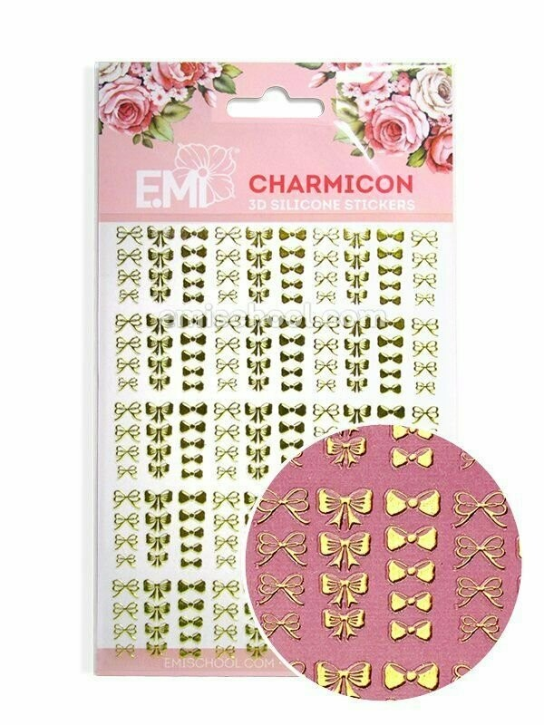 Charmicon 3D Silicone Stickers Bows