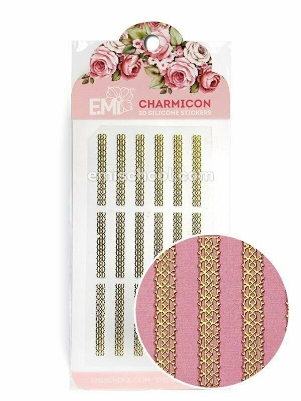 Charmicon 3D Silicone Stickers Ornament Gold #4