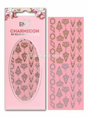 Charmicon 3D Silicone Stickers Jewelry Gold/Silver #2