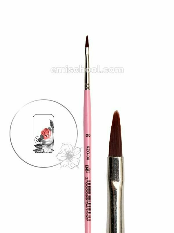 Brush for Zhostovo painting Oval #0/0