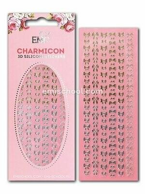 Charmicon 3D Silicone Stickers Bows Gold/Silver