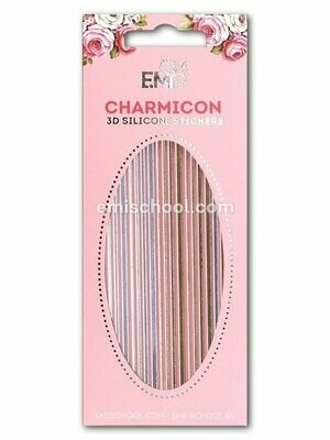 Charmicon 3D Silicone Stickers #41 Lines Gold/Silver