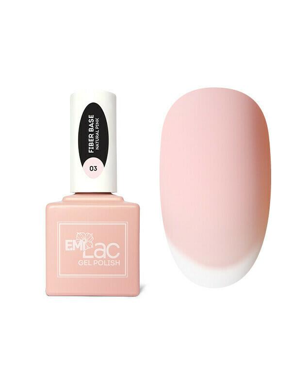 E.MiLac Fiber Base Gel Natural Pink #3, 15 ml.