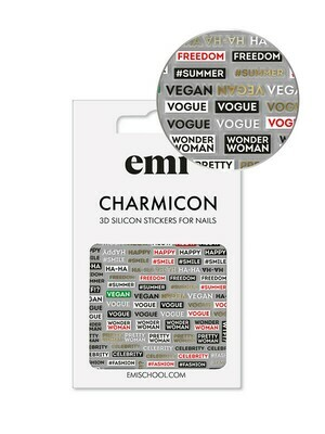 Charmicon 3D Silicone Stickers #179 Phrases