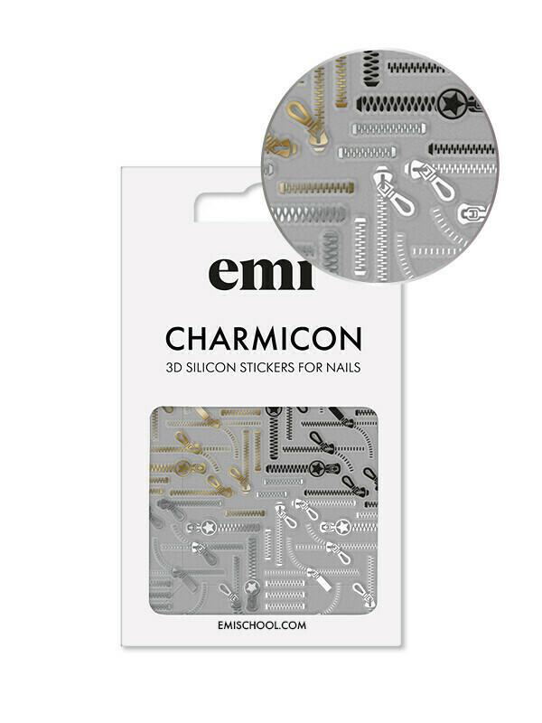 Charmicon 3D Silicone Stickers #170 Zipper