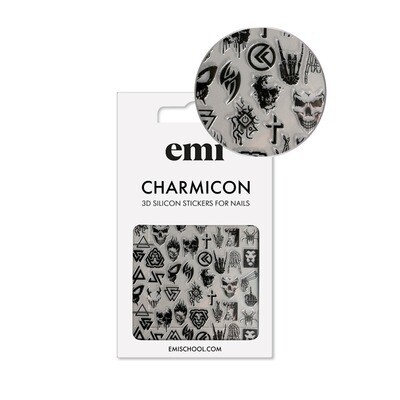 Charmicon 3D Silicone Stickers #182 Gothic