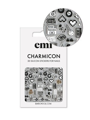Charmicon 3D Silicone Stickers #188 Game Over