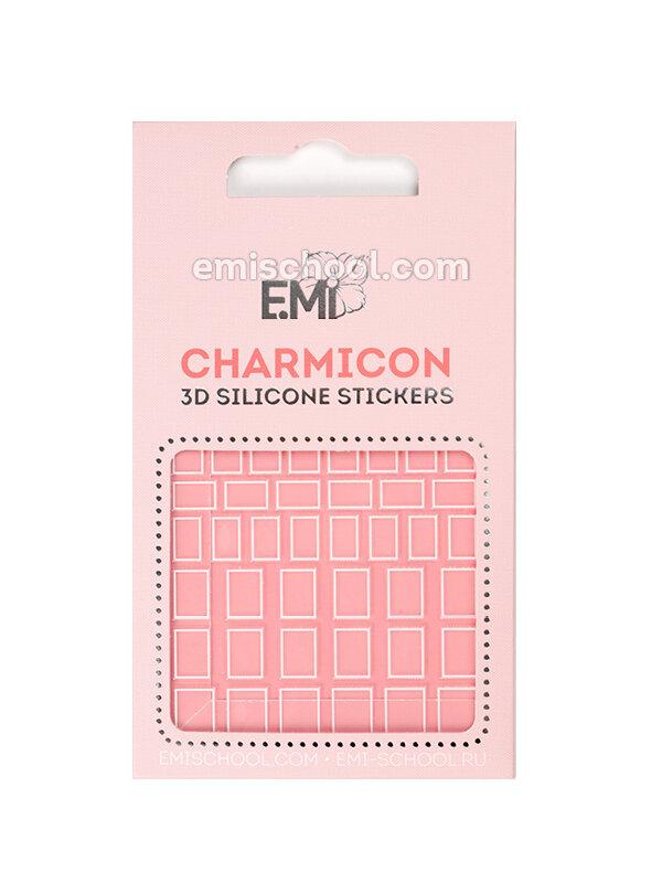 Silikonowe naklejki 3D Charmicon #114 Squares White