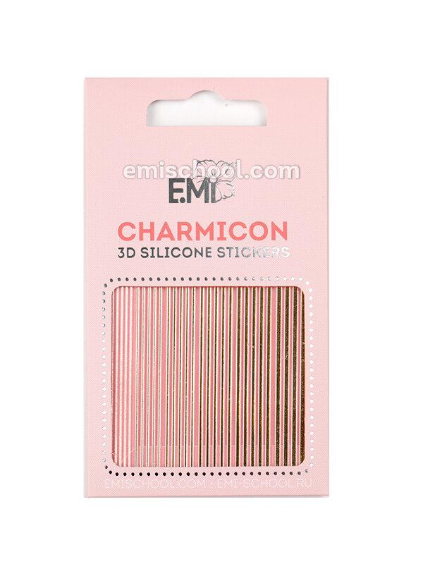 Silikonowe naklejki 3D Charmicon #117 Lines Gold