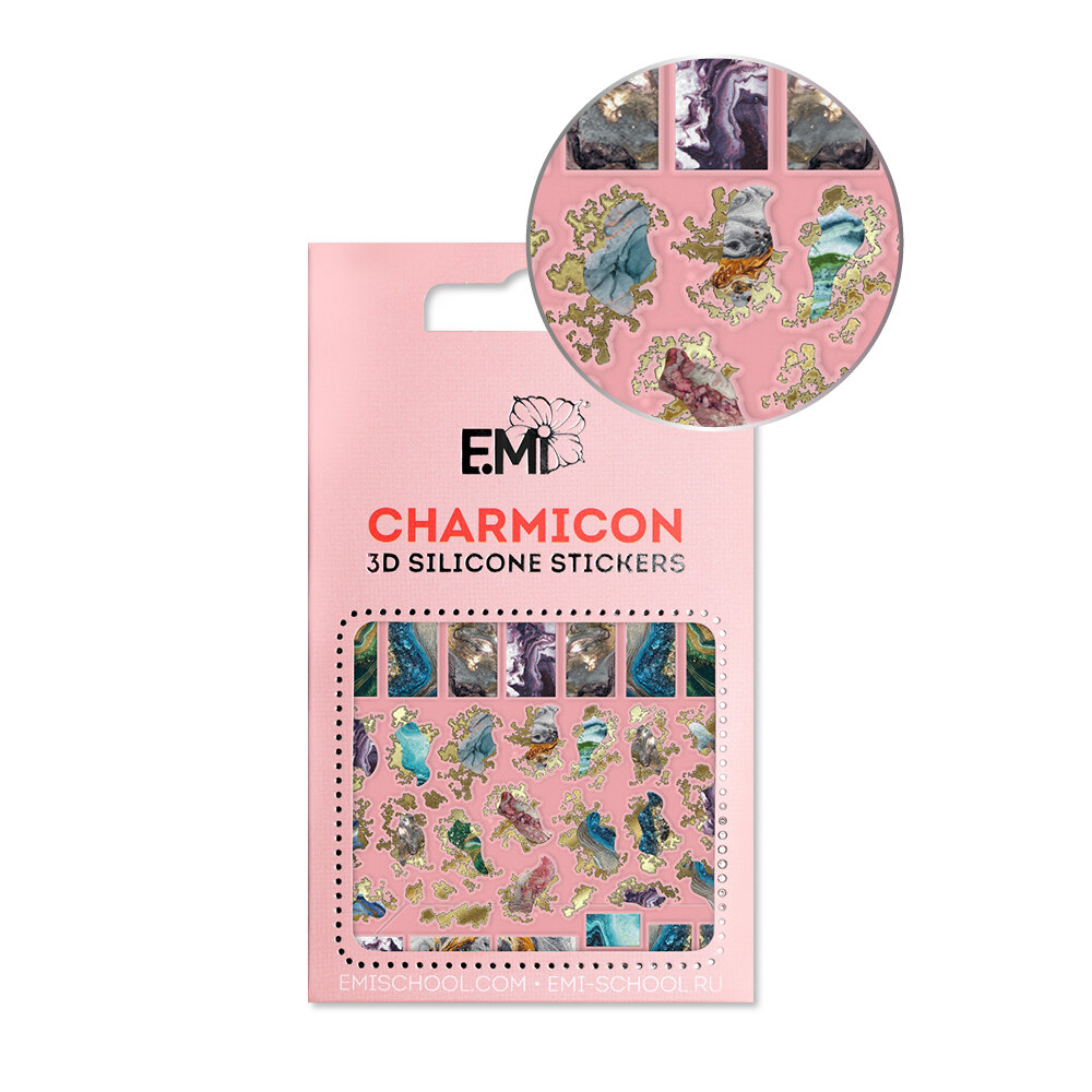 Charmicon 3D Silicone Stickers #142 Marble