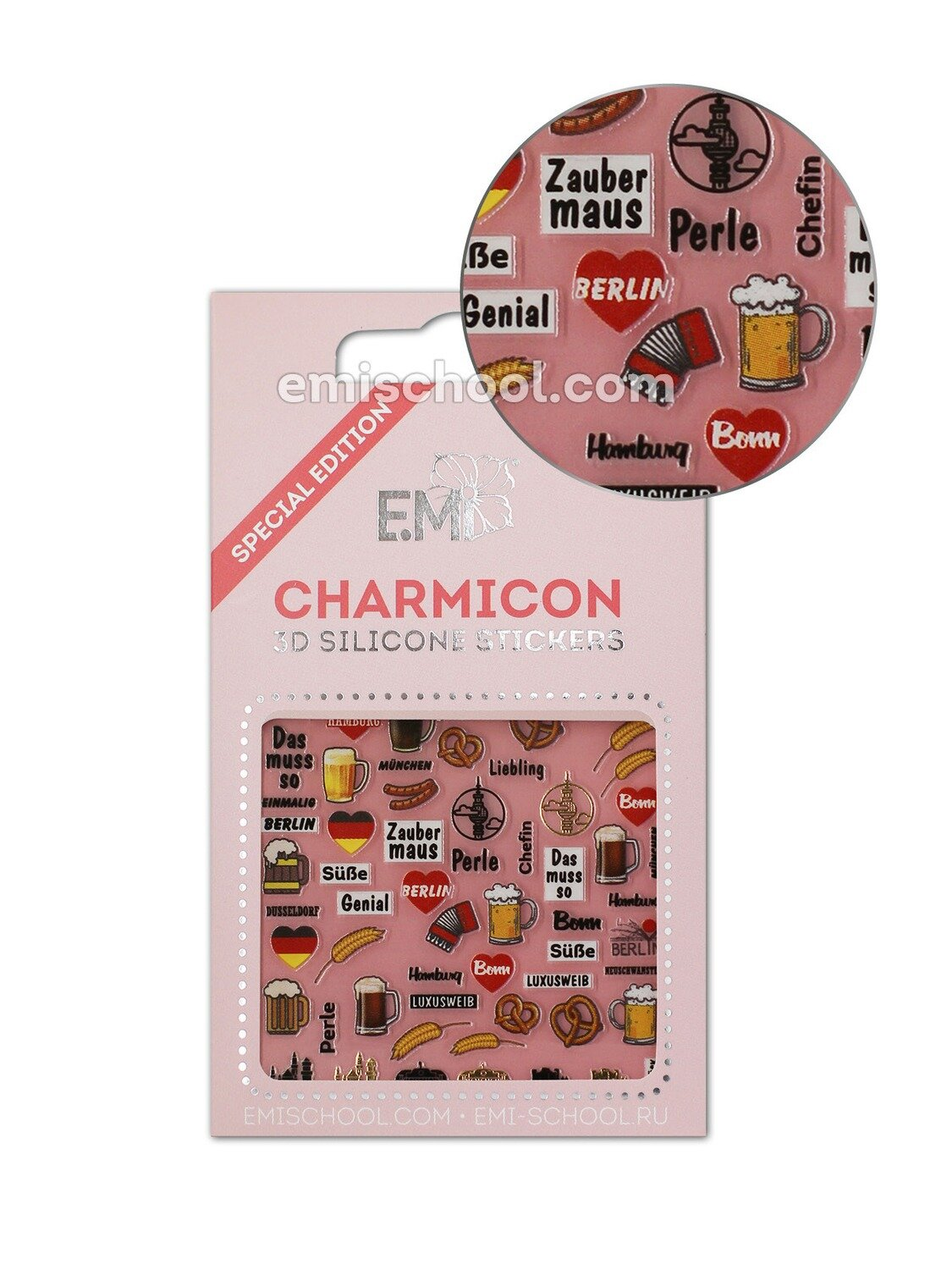 Charmicon 3D Silicone Stickers Germany 1