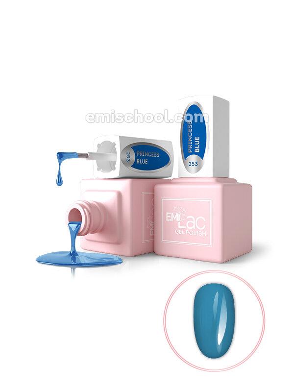 Lakier hybrydowy E.MiLac GL Princess Blue #253, 9 ml.