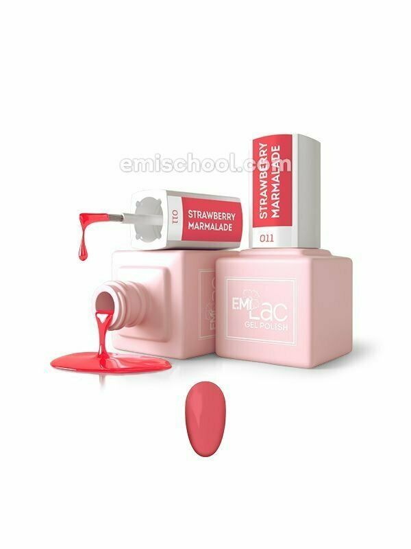 Lakier hybrydowy E.MiLac Strawberry Marmalade #011, 9 ml.