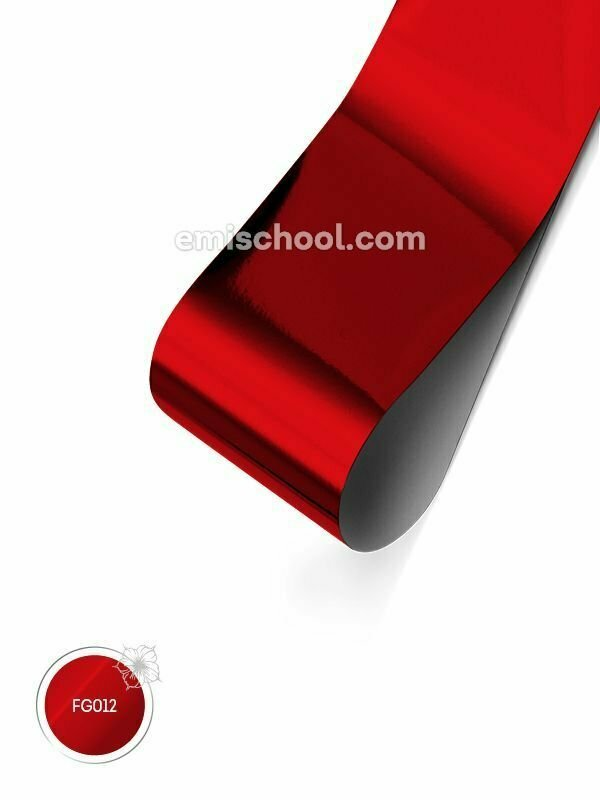 Foil glossy Red