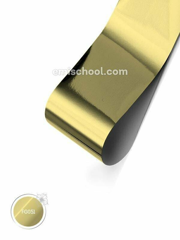 Foil glossy White Gold