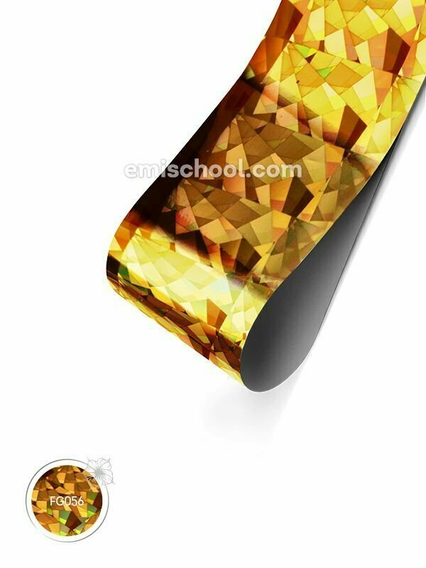 Foil holographic gold Crystals