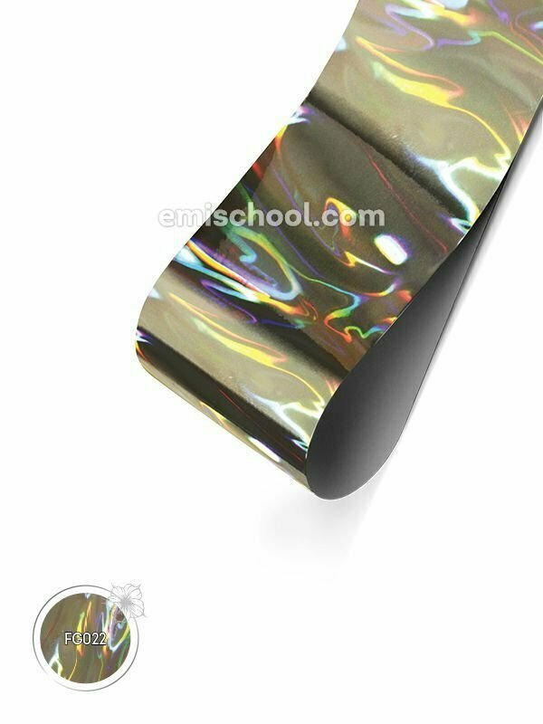 Foil holographic silver Flame