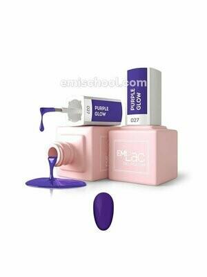 Lakier hybrydowy E.MiLac Purple Glow #027, 9 ml.